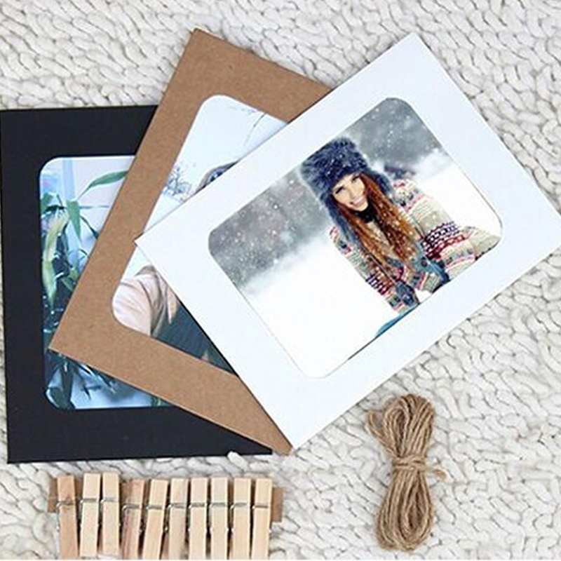Free shipping 2016 new arrival 7inch 7pcs paper photo flim for Picture frame with clips diy