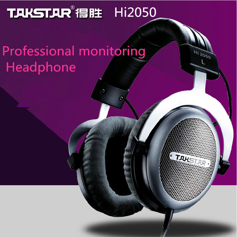 In stock Takstar HI2050 Hi-Fi Stereo Headphones Open Dynamic Audio Headset & Earphones hi 2050 monitor headphones headset(China (Mainland))