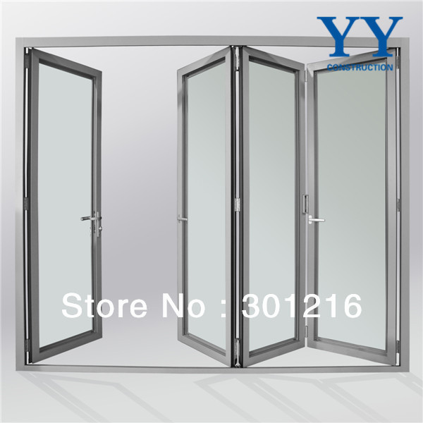 Aluminium Glass Door Design Glass Mulit Panel Folding