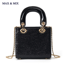 2017 Fashion Essential Bag for IT Girl Women Bling Glitter Sequins Tote Pallette PU Leather Bag Purse Dazzling Handbag(China (Mainland))