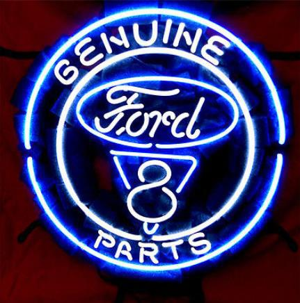 "Business Custom NEON SIGN board Forautomobile Ford V8 Motor Company REAL GLASS Tube BEER BAR PUB Club Shop Light Signs 16*15""(China (Mainland))"