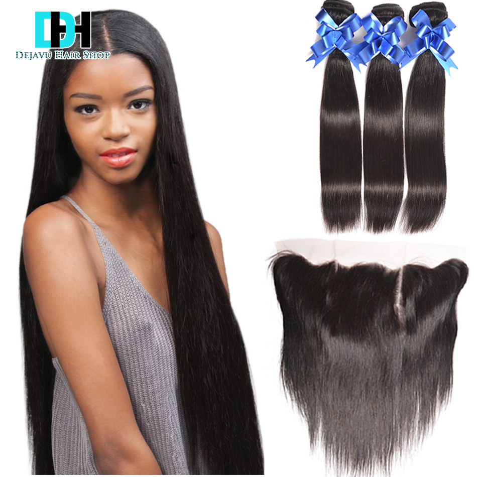 Sexy Formula Hair With Closure Grace Hair Brazilian Straight With Closure 3 Bundles Full Lace Closure Ear To Ear With Bundles