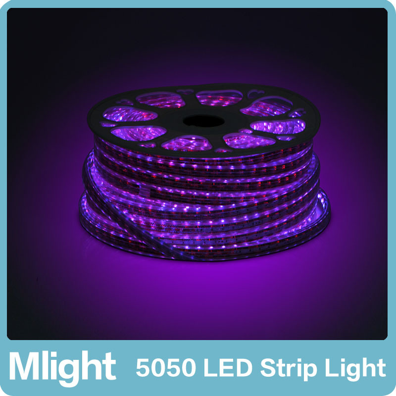 50 meters 220V RGB LED Strip High Quality Color Changable 5050SMD Strip Lights Decorative Tape Light for Outdoor Garden(China (Mainland))