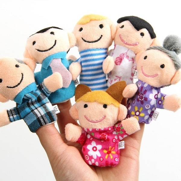 6 PCS Hot Funny Family Finger Puppets Cloth Doll Baby Kid Child Children Educational Hand Toy Story(China (Mainland))