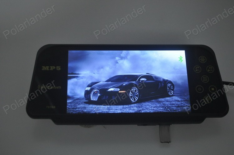 DC 12V / 24V 7 Inch TFT LCD Color bluetooth Car Monitor with wireless 4 led rearviwe camera night vision