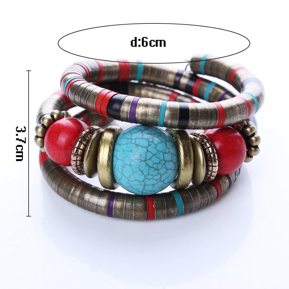 Горячие ювелирные изделия тибетский серебряный браслет бирюзовый инкрустация округлость бусины отрегулируйте браслет B02291
