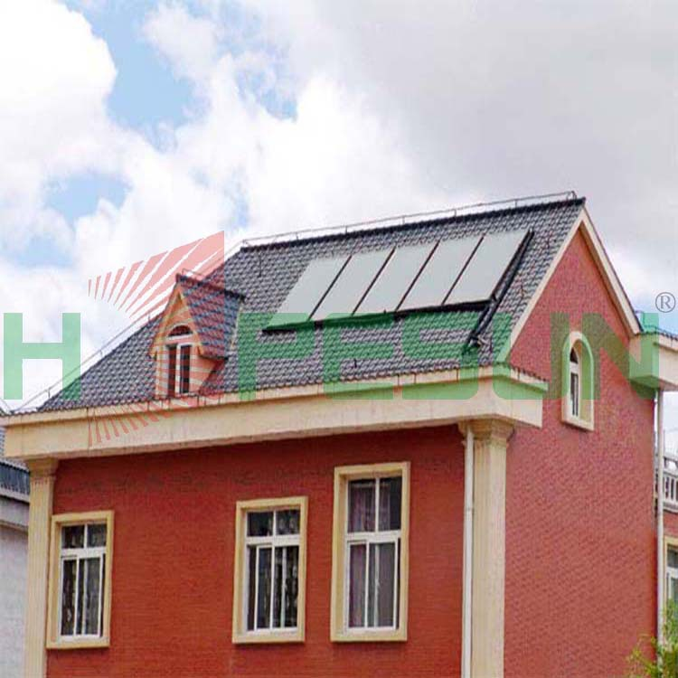 Factory direct building integrated whole black chrome copper flat plate collectors(China (Mainland))