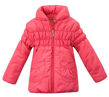 Freeshipping 2013 Autumn winter Red Children Child girl Kids baby coat jacket outwear top baby clothing age for 4-11Y PDDS13P28