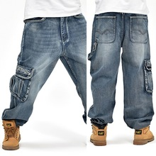 2015 new casual large size jeans plus fertilizer to increase the individuality fashion Hip-hop jeans(China (Mainland))