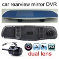 high quality 4 3 inch Car DVR Review Mirror Dual lens lens FHD 1080P car video