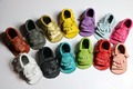 50pairs lot candy colour summer Genuine Leather Baby Moccasins Soft Baby Shoes infant first walker Footwear