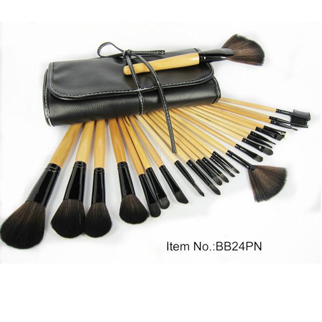 24Pcs Professional Make Up Toiletry Cosmetic Kit Eye Eyeshadow Eyeliner Lip Foundation Makeup Brushes Kit With PU Bag GI5010