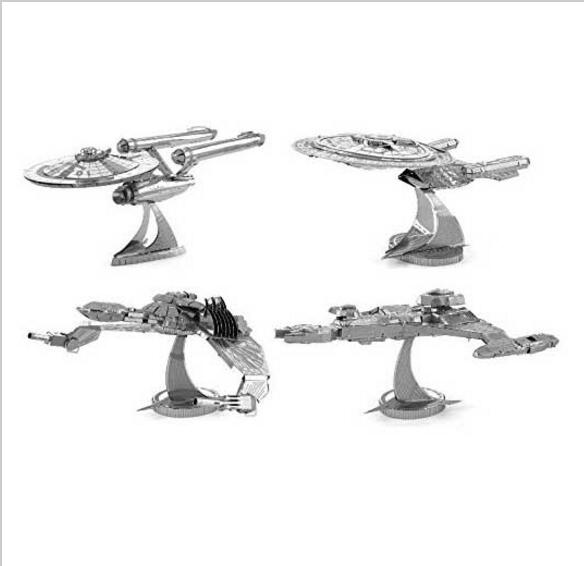 4PCS Star wars 7 Force Awaken Star Trek 3D jigsaw puzzles for kids 3D Nano metal DIY scale Model Building architecture toddlers(China (Mainland))