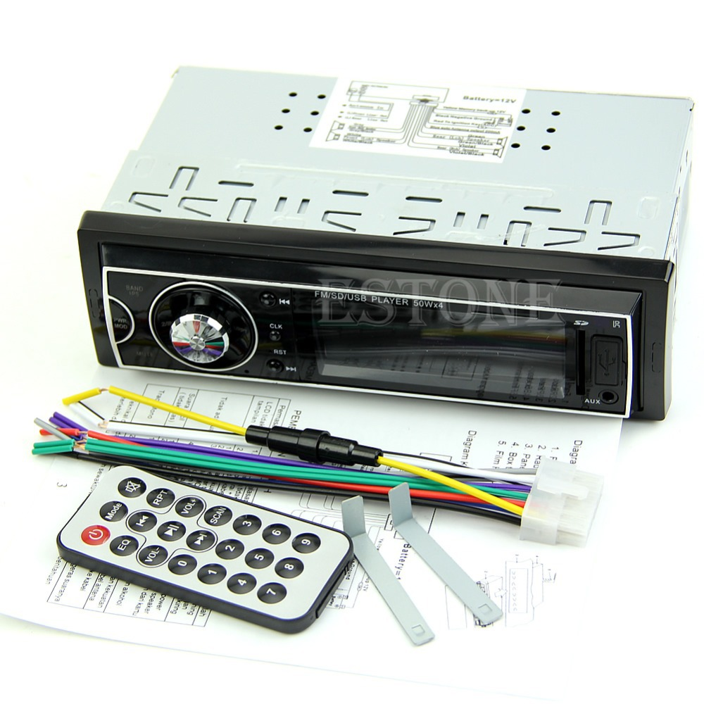 HOT Car Audio Stereo In Dash Fm With Mp3 Player SD USB Input AUX Receiver Remote