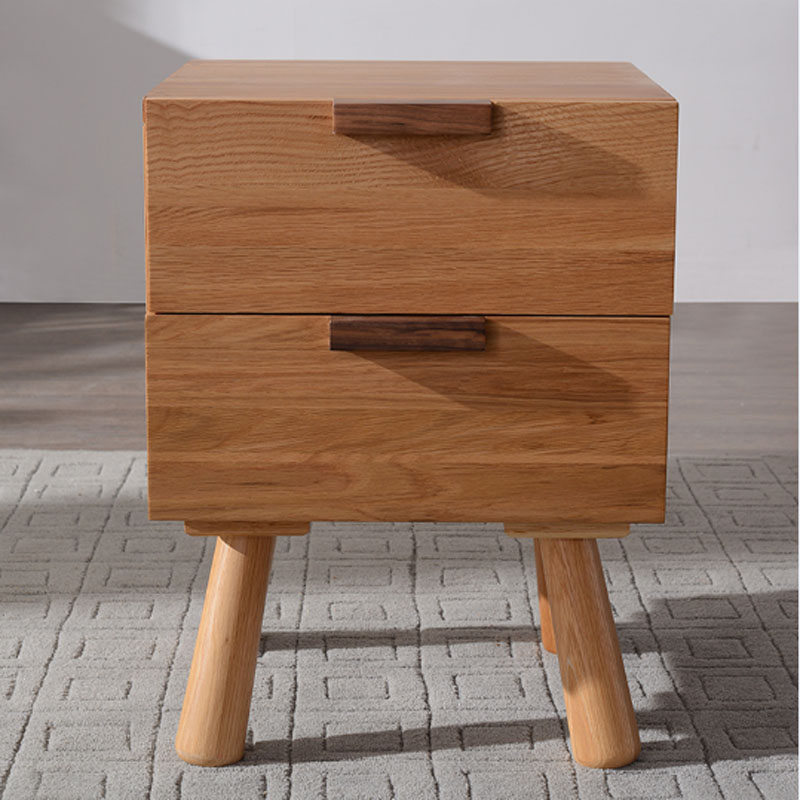 White Oak Wood Bedside Stand Drawer Cabinet(China (Mainland))