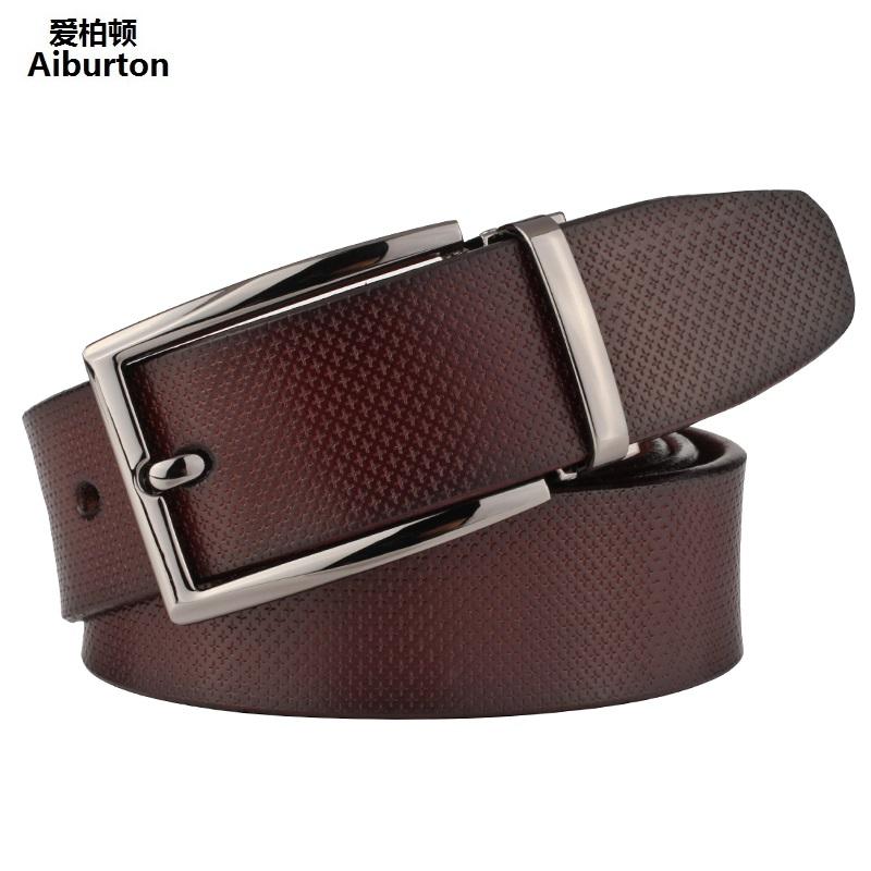 2016 New Man Belts Brand Leather Luxury Formal Style ceinture homme Brown Coffee 125cm men belt cinturones hombre Unisex Strap(China (Mainland))