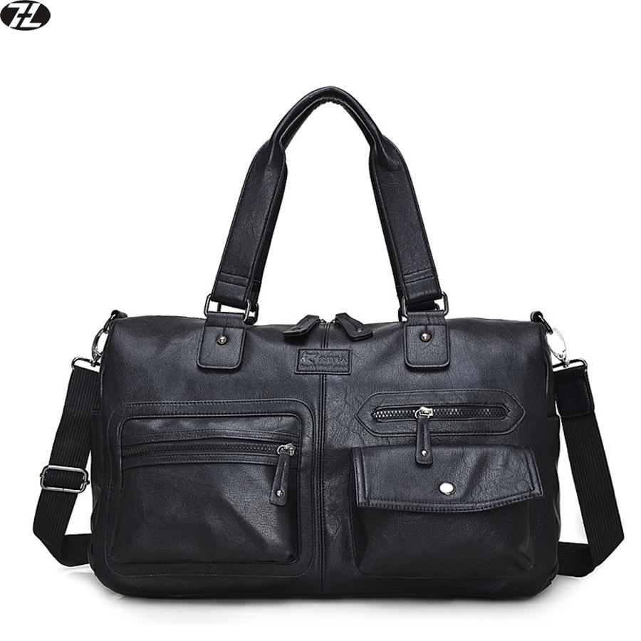 leather men travel bag vintage men crossbody duffel bag brand men messenger bags business men shoulder bag briefcase handbag(China (Mainland))