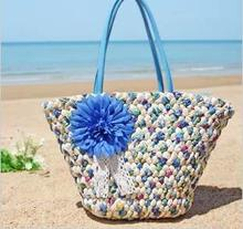 2014 new arrival female fashion woven straw bag women cane makes up beach bag  fashion Handbags fashion evening bags(China (Mainland))