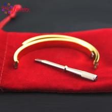 Luxury Design Women Gifts Love Bracelet With Screwdriver Bracelet Femme For Women &Men Wristband Rose Gold Bangle Screw Bracelet(China (Mainland))