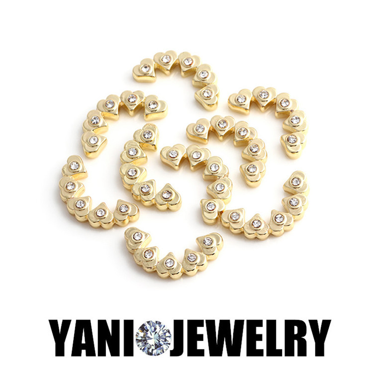 20pcs/lot Free shipping Gold Plated Charms Crystal Heart Plates Charms fit 30mm Floating Locket(China (Mainland))