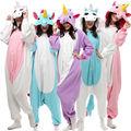 Kigurumi Unicorn Costumes Cosplay Adult Animal Onesies Flannel Hoodie Pyjamas Sleepwear Home Clothes Women Men Nightwear