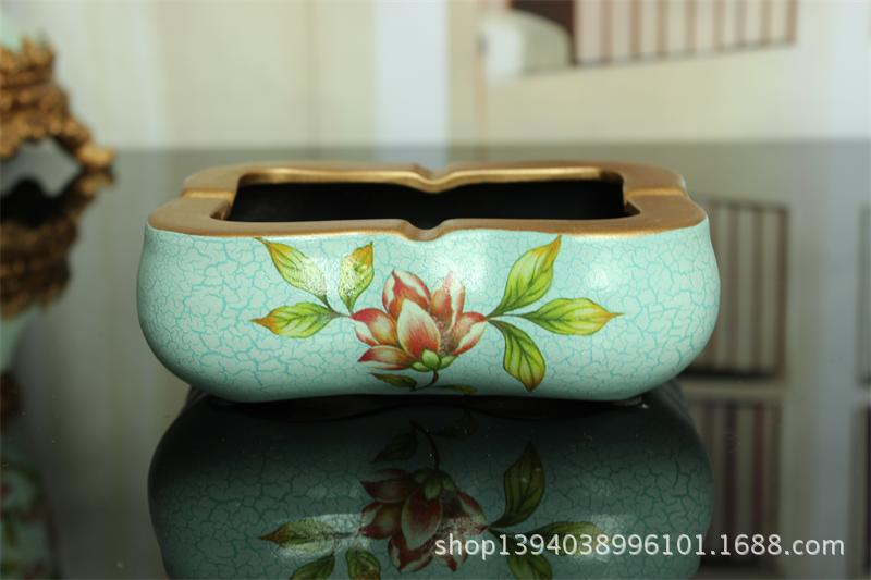 price of direct selling cigarette ash cylinder antique garden ceramic large ash cylinder home accessories European gift(China (Mainland))