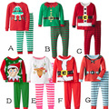 New Kids Christmas Sleepwear Boys Girls Cotton Deer Stripe Tops Pants Pajamas Santas Little Helper Sleepwear