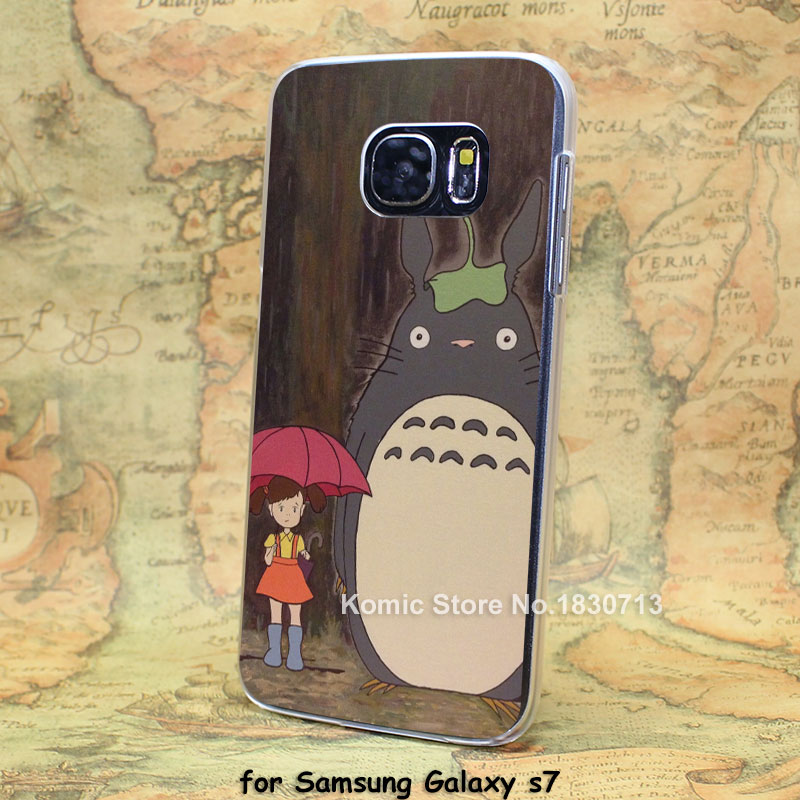 Totoro A1200 transparent clear hard case cover for Samsung Galaxy s6 s6 edge s7 s7 edge(China (Mainland))