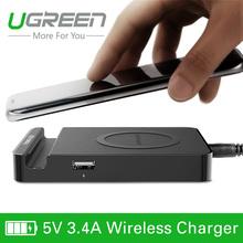 Беспроводное зарядное устройство USB адаптер питания с двумя портами для Samsung Galaxy S6/S6 Edge