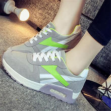 Online shoes for women mixed color increasing height women shoes casual trendy lace up wholesale shoes(China (Mainland))
