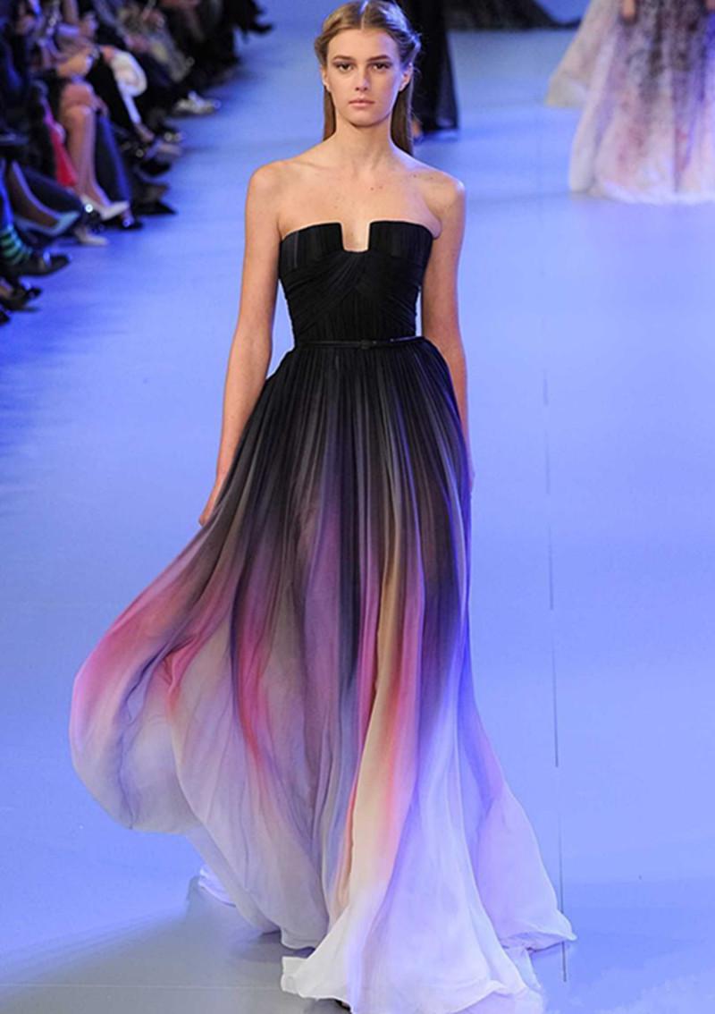 комбинированные платья черные с полосками