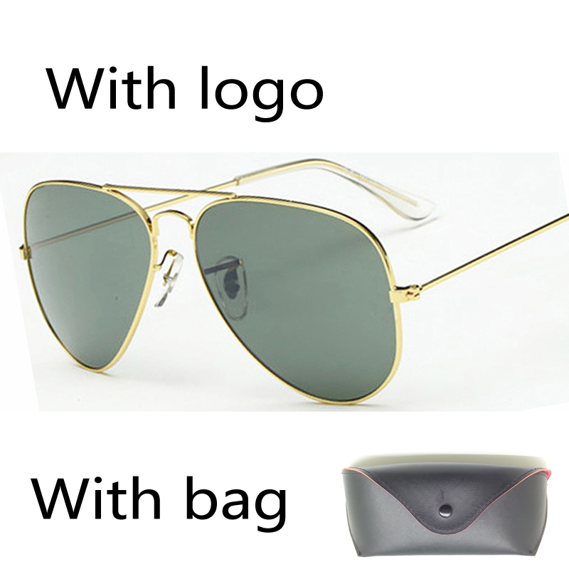 Original logo Designer Aviator Sunglasses Men with Package pilot sun Glasses Aviator Brand Women Unisex oculos de sol bag box(China (Mainland))