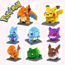 Pokemon Figures Model Toys Pikachu Charmander Bulbasaur Squirtle Mewtwochild Eevee Child Christmas gift 9+ Anime Building Blocks - new toy store