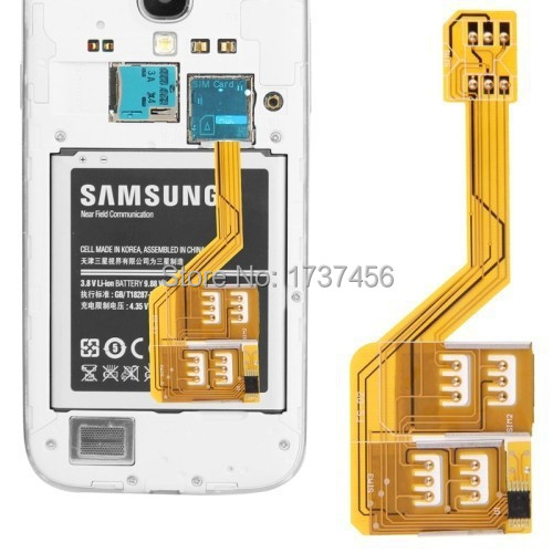 dual Three SIM Card Adapter for Samsung Galaxy S5 G900 S4 i9500 S3 Note 3 Note 2 N7100 Grand 2 G7106 note 4(China (Mainland))