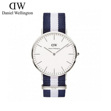 36mm for women ladies daniel wellington silver one nylon leather band daniel wellington watch quartz wristwatch