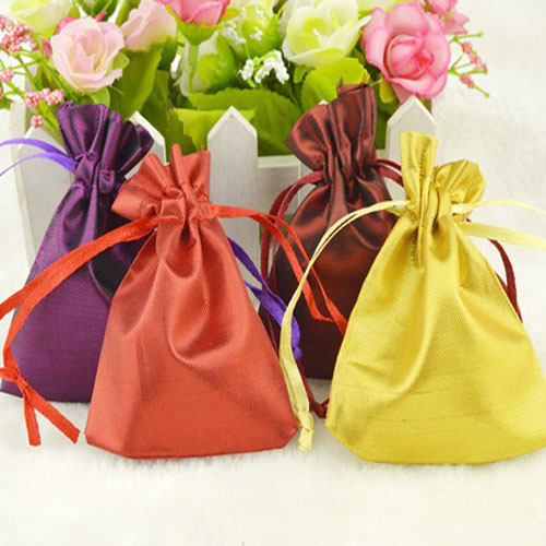 "Silk Stain Gift Bag 8x10cm(3""x 4"") Various Color Good Quality Fashion Jewelry Drawstring Pouch Wedding Favor Holder(China (Mainland))"