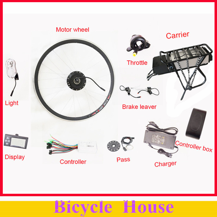 250W/350W/500W 36V Rear Carrier Battery Electric Bicycle Kits Electric Bike Conversion Kit With LED Display(China (Mainland))