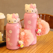 280ml Cartoon Hello Kitty Bottle Stainless Steel Cute Thermos Bottle 2016 water bottle For Kids garrafa de agua(China (Mainland))