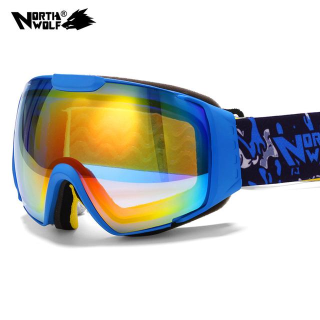 2016 Новый бренд лыжные очки двухместный UV400 анти-туман большой лыжная маска очки лыжи мужчины женщины снег сноуборд очки GOG-208