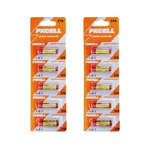 10pcs(5pcs/card*2)*12V 27A Super Alkaline Battery for Doorbell, Remote control,Flashlight etc