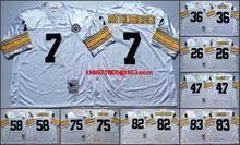 Throwback stitched Pittsburgh Steelers Mitchell & Ness # Bradshaw,Franco Harris,Bettis,Webster,Lambert,Joe Greene,Lynn Swann(China (Mainland))