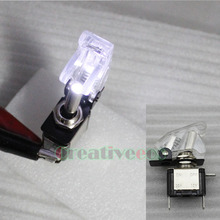 One Illuminated Switch SPST 12V 20A Car LED Light ON OFF Toggle Switch 6Colors Red Color