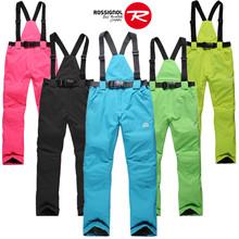 Skiing pants female Men winter lovers outdoor skiing pants windproof waterproof thermal thickening suspenders trousers
