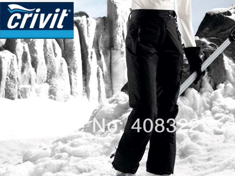 FREE SHIPPING,NEW ARRIVE!!2014 CRIVIT Branded Snowboarding Pants for woman Waterproof Breathable and different color,ski pant(China (Mainland))