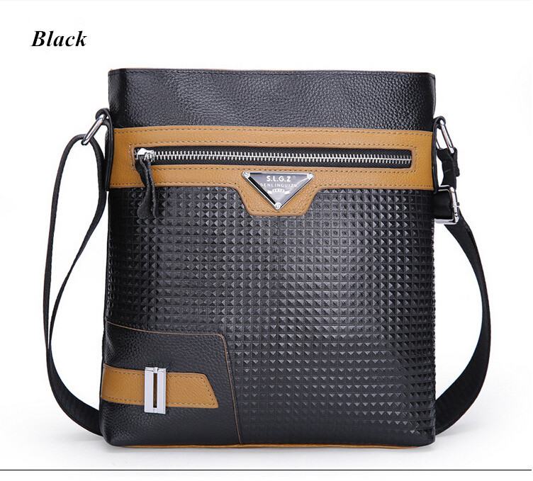 Hot selling 100% layer cowhide men's business bag shoulder bag inclined shoulder fashion bag for men 2016 new Free Shipping(China (Mainland))