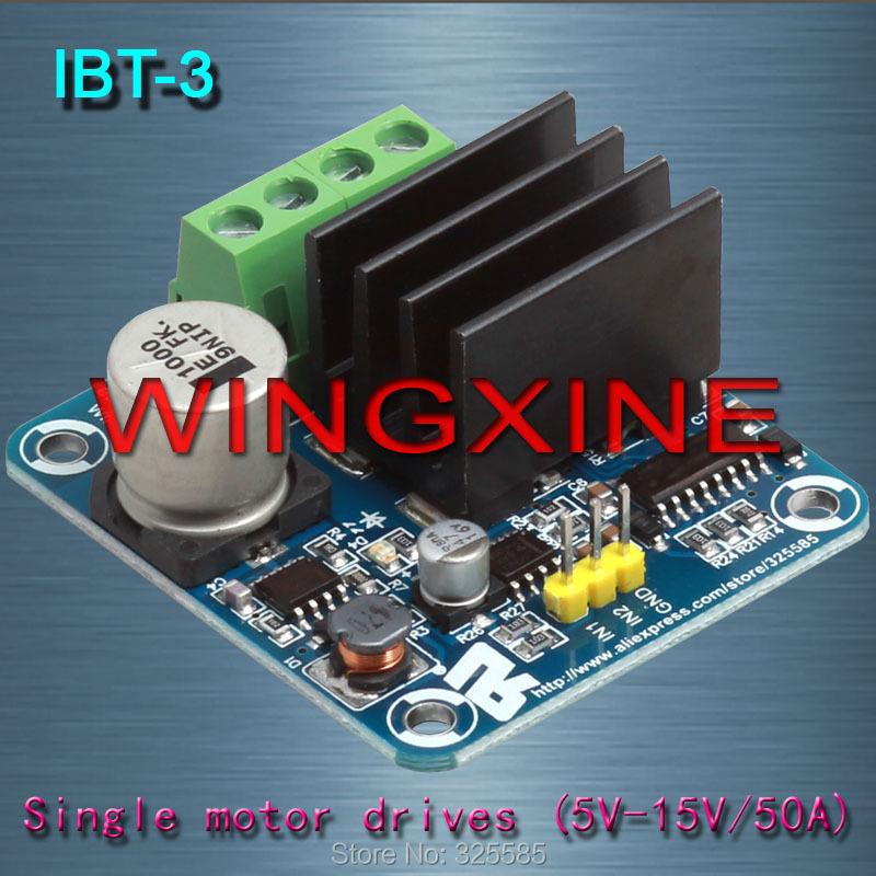 Free shipping,4pcs/lot Brand ,IBT-3 50A H-bridge High-power Motor Driver module/smart car(China (Mainland))