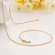 Polished Italian style 45cm 18K real gold plated solid figure eight 8 gold chain women 18