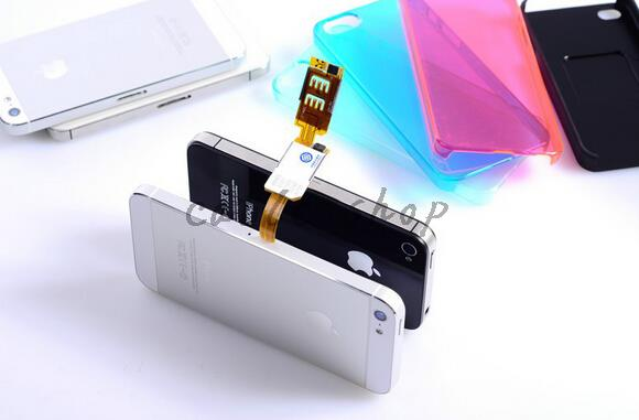 New fashion Dual 2 Sim Card Adapter Slot For For Android For iPhone 5 5s 6 6plus Nano SIM card adapter(China (Mainland))