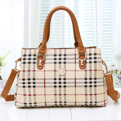 New Stripe Handbag Leather Women Shoulder Bags Medium Big Ladies Tote Bag Female Fashion High Quality Shopping Crossbody Bags(China (Mainland))