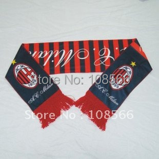 Wholesale ACmilan scarf/ fans scarves/souvenirs  5pieces /lot can mix different batches team scarf